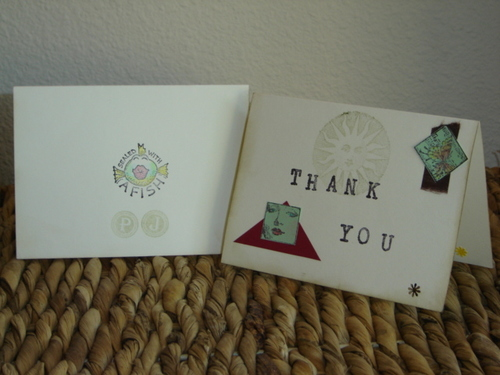 My 2006 Thank You notes